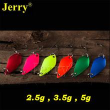 Jerry 6pcs 2.5g 3.5g 5g wholesale pesca trout bass&perch ultra light fishing spoon lures metal artificial freshwater bait