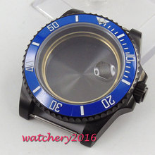 42mm stainless steel case sapphire crystal fit eta 2824 2836 miyota 82 movement watch case 40mm parnis sapphire glass steel watch case eta 2836 miyota 8205 8215 movement