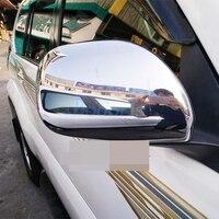 도요타 랜드 크루저 120 용 Prado FJ120 2003-2009 사이드 윙 미러 커버 도어 후면보기 오버레이 크롬 자동차 스타일링 액세서리