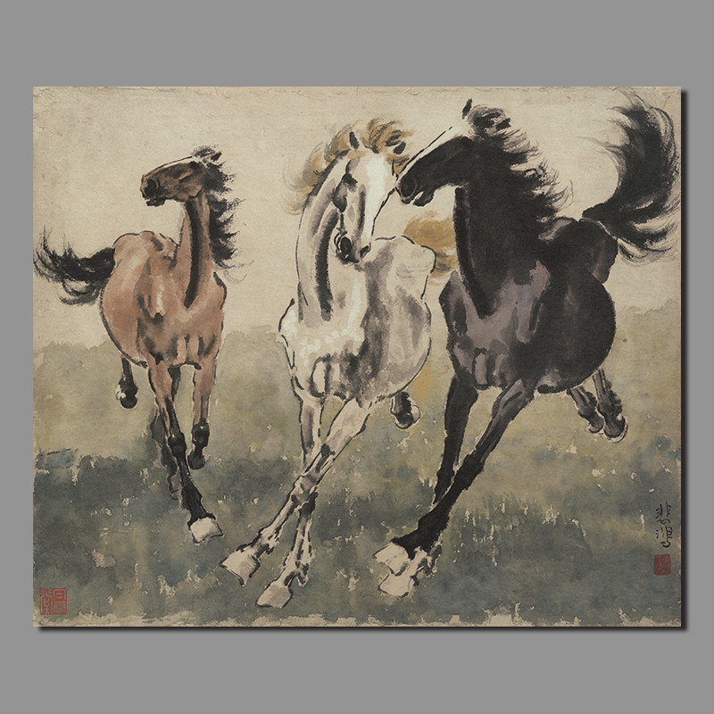 Online Buy Wholesale famous horse painting from China ...