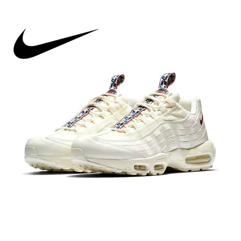 Original authentique Nike Air Max 95 TT chaussures de course pour hommes respirant Sports de plein Air à lacets baskets 2019 nouveauté AJ1844-101