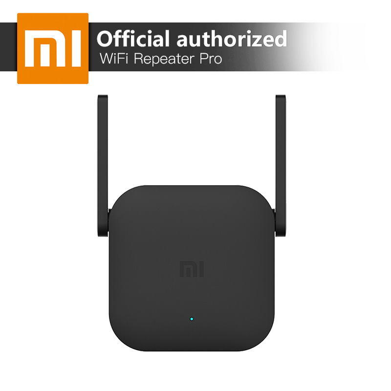 Xiaomi Amplificador WiFi Pro 300 Mbps Amplificador Wi-Fi repetidor de señal Wifi cubierta Extender repetidor 2,4G mi inalámbrica negro Router
