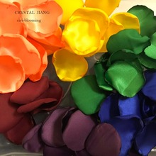 Rainbow Punk-rock Wedding Petals Soft Flower Girl Rose Petal 100 pieces /Lot valentine black ruffle rainbow hearts girl pettitop black petal pettiskirt nb 8y mapsa0121