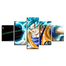 Artryst Canvas Paintings Wall Art HD Prints 5 Pieces Animation Dragon Ball Z Goku Pictures Super Saiyan Poster Living Room Decor