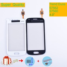 For Samsung Galaxy Trend DUOS S7560 S7562 GT-S7562 7562 7560 Touch Screen Panel Sensor Digitizer Front Touchscreen NO LCD lychee grain style protective abs back case for samsung galaxy trend duos s7562 s7560 white