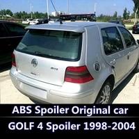 For Volkswagen GOLF 4 Spoiler 1998 2004 High Quality ABS Material Car Rear Wing Primer Color Rear Spoiler modified spoiler