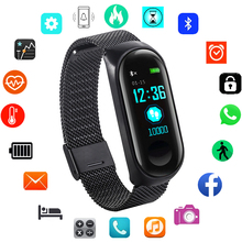 Stainless Steel Smart Watch Men Sport Digital Watches Electronic