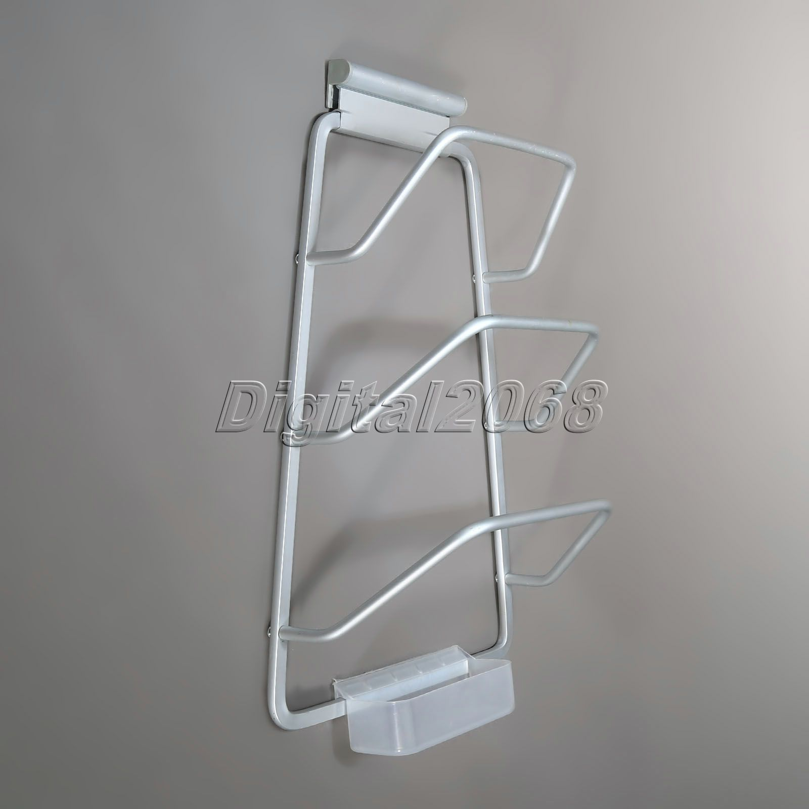 Aluminum 3 Layers Kitchen Pot Rack Pan Lid Holder Wall