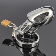 Stainless steel CB6000 male chastity cage device penis lock bondage belt sex toy for male