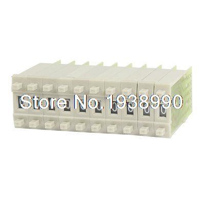 10 Pcs KM3 0-9 Digital BCD Code Thumbwheel Pushwheel Switches Gray 31mm x 10mm цены