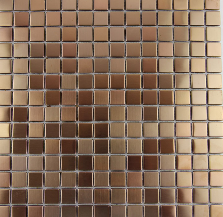 New Fashion Style Rose Gold Metallic Mosaic Tile Stainless