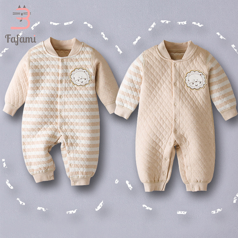 Baby   rompers   newborn boy clothes Organic cotton baby girl clothing babies Long sleeve Jumpsuit   romper   winter snowwear snowsuits