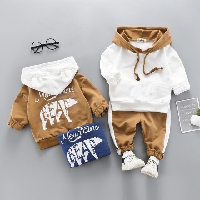 детская одежда Коллекция 2019 года, осенне-зимняя одежда для мальчиков комплект одежды с толстовки + штаны комплект детской одежды для маленьких девочек мальчика спортивный костюм для одежда для детей 1 2 3 4 лет