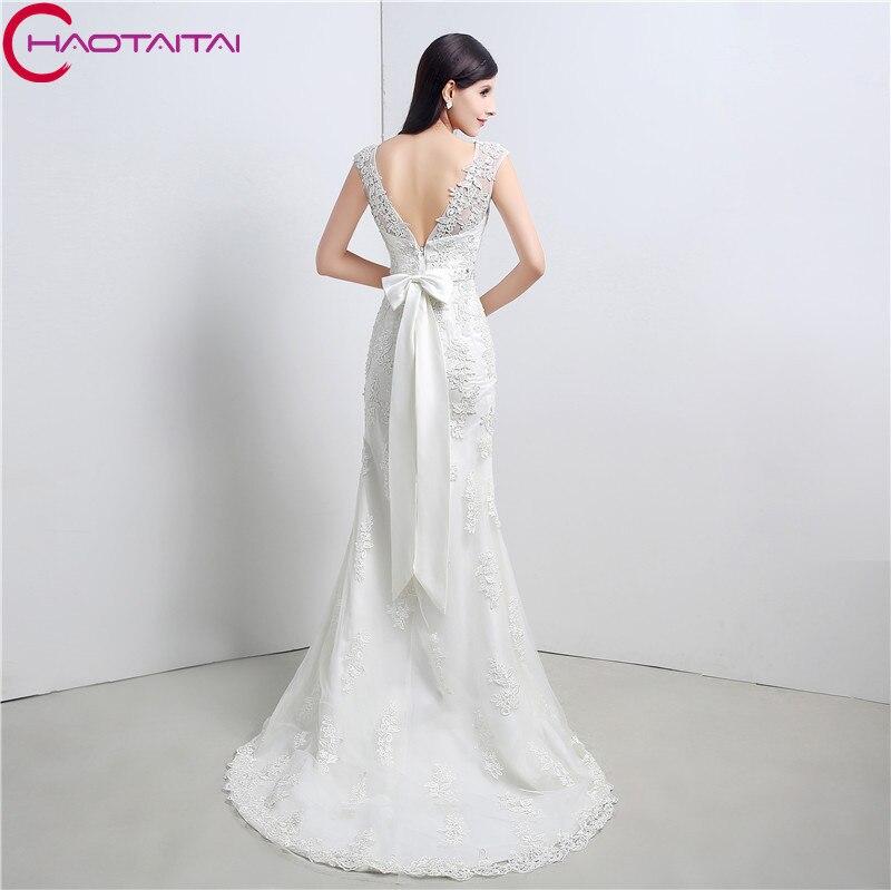 Wedding Dresses Vintage Mermaid Cheap 2018 Appliques Lace Beaded ...