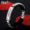 Beier стерлингового серебра 925 браслет высокого качества звено цепи панк крест высокой poshied браслет ручной цепи SCTYL0033
