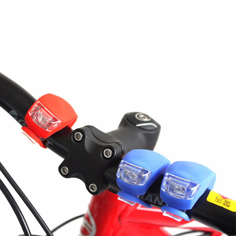 Bicycle Light Silicone LED Headlight Taillight Waterproof Safety Road Mountain Bike Night Cycling Accessory