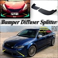 Car Splitter Diffuser Bumper Canard Lip For Audi A4 For RS4 S4 Tuning Body Kit / Car Front Deflector Flap Fin Chin Reduce Body