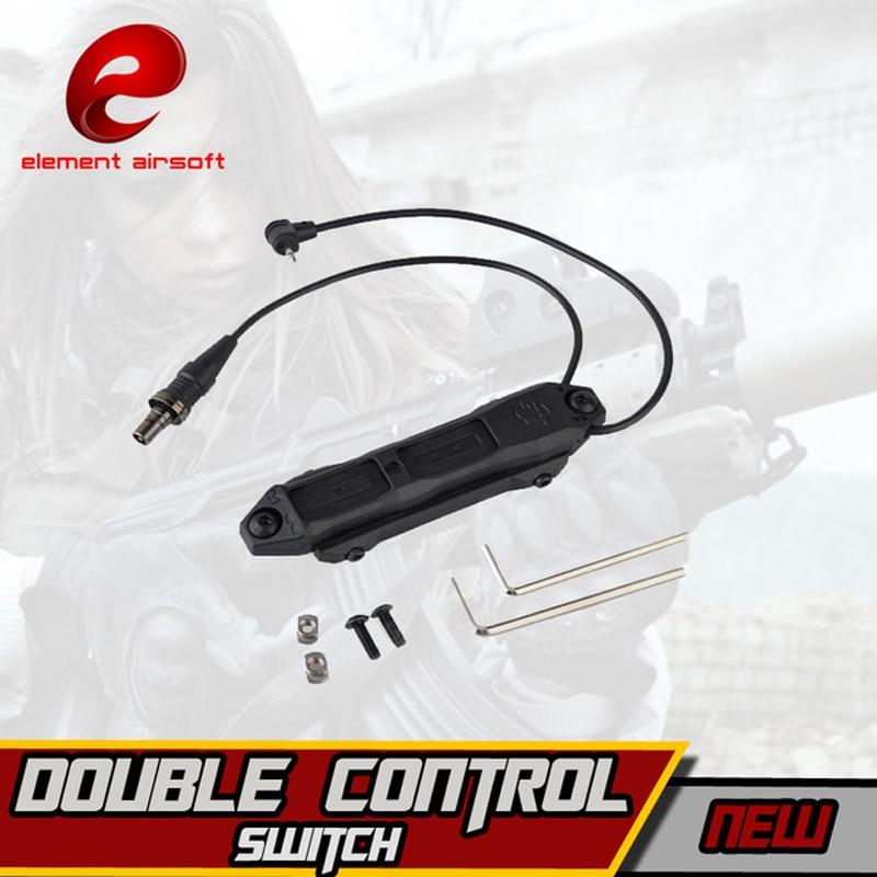 elemento airsoft tatico arma interruptor de luz softair interruptor controle duplo para peq 15 16a dbal