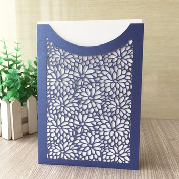 30Pcs/Lot Delicate Carved Pattern Customizable Invitation Event&Party Supplies Wedding Invitation Card