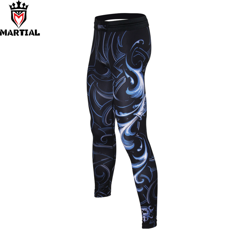 Martial :free shipping Aquarius sublimation compression leggings fitness sports pants gym running leggings yoga pants spats