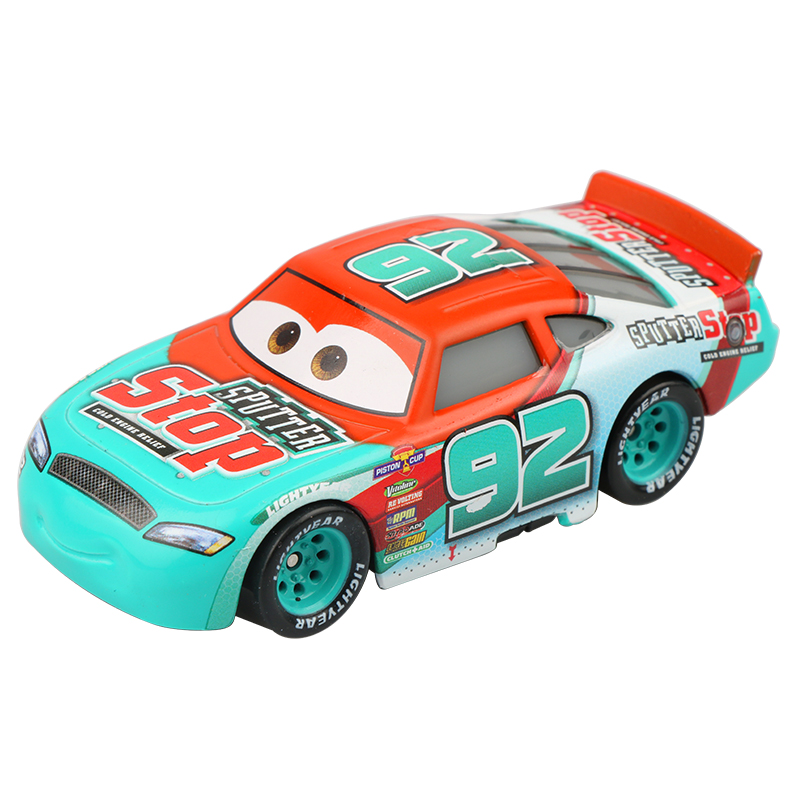 Disney Pixar Cars 3 New Role No.92 Sputter Stop Lightning McQueen 1:55 Diecast Alloy Car Model Birthday Gift Toy For Boy Kid