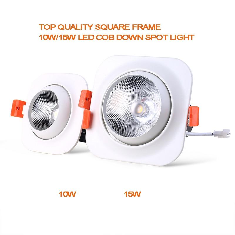 [Potencia verde] Alta calidad empotrada montada Led COB down light - Iluminación LED