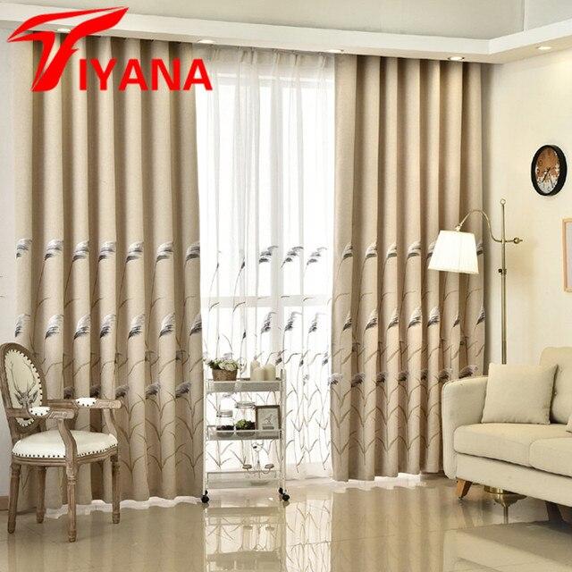 Tiyana pastorale brodé roseau Design chambres rideaux pour cuisine ...