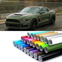 50*300 Fashion Car Styling Stickers Army Green Matte Flim PVC Vinyl Wrap Car Body Film for Motorcycle Bicycle Auto Accessories