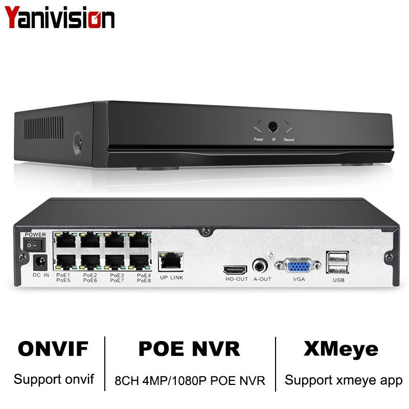 8CH 4MP 4CH 5MP 1080 P Canal de Segurança CCTV NVR ONVIF NVR Full HD 8 H.265 P2P Nuvem Network Video gravador De Sistema de Câmera IP