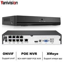 8CH 4MP 4CH 5MP 1080 P H.265 NVR Full HD 8 Canali di Sicurezza CCTV NVR ONVIF P2P Nube Video di Rete registratore Per Sistema di Telecamere ip