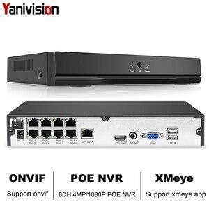 Image 1 - 8CH 4MP 4CH 5MP 1080 P H.265 NVR מלא HD 8 ערוץ אבטחת CCTV NVR ONVIF P2P ענן רשת וידאו מצלמת ip מערכת