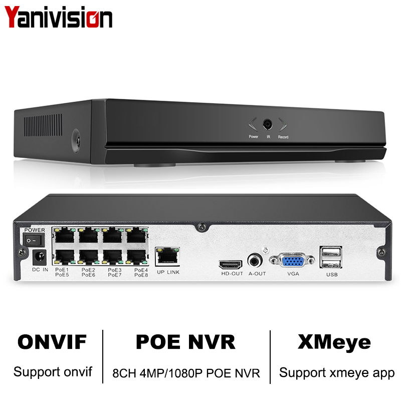 8CH 4MP 4CH 5MP 1080P H.265 NVR Full HD 8 Channel Security CCTV NVR ONVIF P2P Cloud Network Video Recorder For IP Camera System