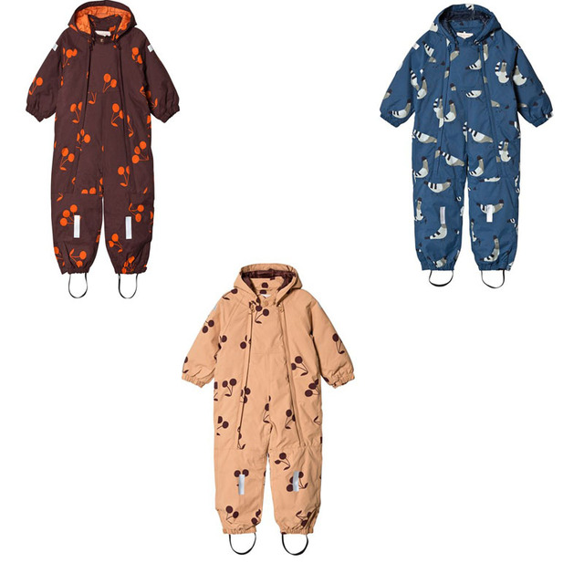 32605a42d3db Baby Rompers 2018 Winter tiny cottons alpaca cherry Baby Snowsuit ...