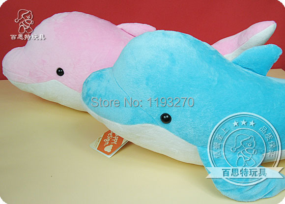 stuffed animal 90 cm plush dolphin toy doll pink or blue colour great gift  free shipping w166 stuffed simulation animal snake anaconda boa plush toy about 280cm doll great gift free shipping w004