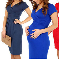 Brand Maternity Clothes Sexy Evening Dresses For Pregnant Women Stretch Pregnancy Vestidos Maternity Blanco Party Prom