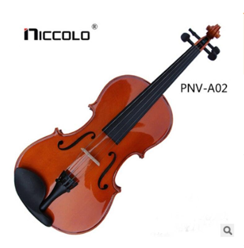 Beginner Handmade Solid Wood Practice Violin Child Violin Adult Violin handmade new solid maple wood brown acoustic violin violino 4 4 electric violin case bow included
