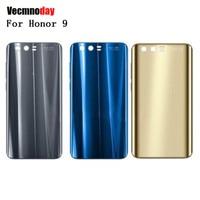 Vecmnoday Nouvelle 3D En Verre Retour Couvercle De La Batterie Pour Huawei Honneur 9 Cas De Logement Avec 3 M Adhésif avec Logo