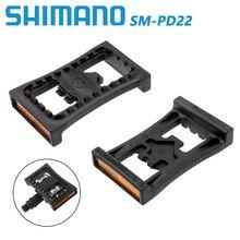 цена на Shimano bike pedals SM-PD22 SPD Pedal MTB mountain bike Pedal For M520 M540 M505 M780 M980 Self-locking pedal