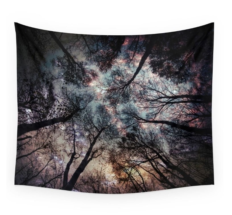 Night Woods Forest Wolf Star Railway Terrorist Europe Fashion Tapestry Throw Wall Hanging For Living Dorm Bedroom Drop Shipping