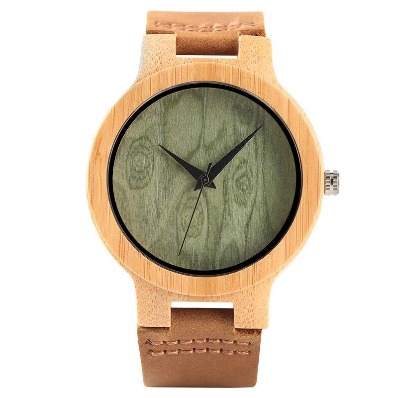 Fashion Wood Kellad Quartz meestele Naistele Ehtne Nahk Watchband - Meeste käekellad - Foto 2