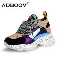 ADBOOV 2019 nuevas zapatillas de deporte de primavera para mujer zapatos casuales de cuero genuino de mujer con retazos cruzados para mujer