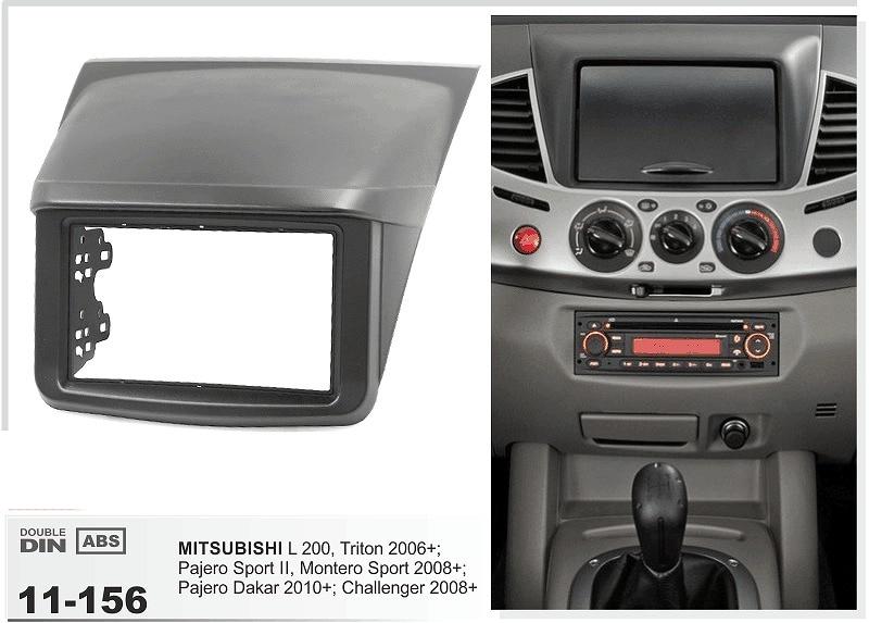 11-156 Top Quality Car DVD Radio Fascia for MITSUBISHI L 200,Triton;Pajero Sport II;Pajero Fascia Dash CD Trim Installation Kit
