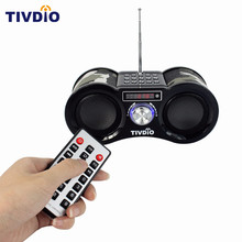 TIVDIO-113 Camouflage Digital Stereo FM Radio USB/TF Card With Speaker MP3 Music Player With Remote Control Receiver Radio F9203