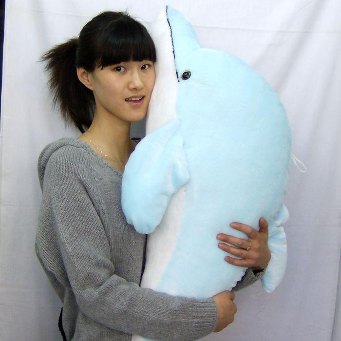 big new lovely plush dolphin toy simulation blue dolphin doll gift about 100cm new big simulation wings pigeons toy polyethylene
