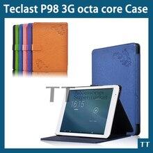 """Cuero de LA PU cubierta de la Caja Protectora para P98 Teclast 3G octa core 9.7 """"tableta de la Calidad Estupenda caso de impresión + Protector de Pantalla gratuito"""