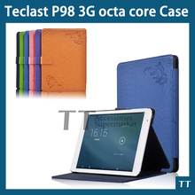 PU Leather Protective Case cover for Teclast P98 3G octa core 9.7″tablet Super Quality print case + Free Screen Protector