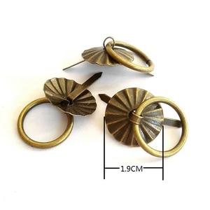Image 2 - 50pcs 1.9cm Antique Bronze Metal Handle Small Wholesale Little Tin Drawer Casket Wooden Box Case Door Fix Factory Direct Sale