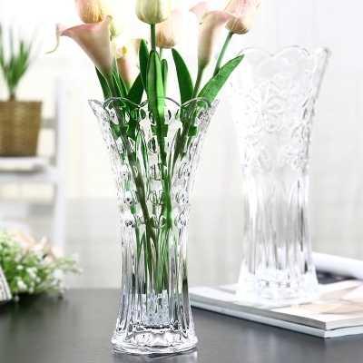 Florero Transparente De Vidrio Grande Europeo Decoración Para Sala De Estar Arreglo De Flores Decoración De Suelo Jarrones Aliexpress
