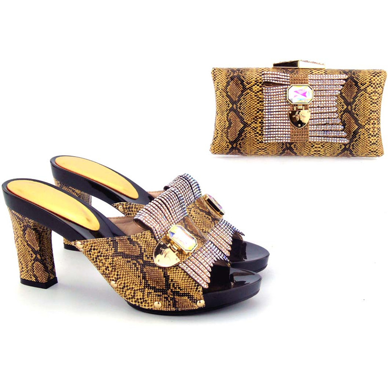 Здесь продается  Free ship coffee snake leather high classical shoes and bag clutches matching set high quality hand made many colors HMS0039  Обувь