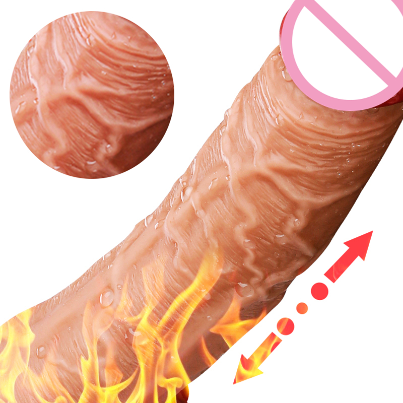 7.5 Inch Automatic Dildo Vibrator G Spot Suction Cup Silicone Real Penis Dong for Women Masturbator Orgasm Sex Toy Heating Dildo